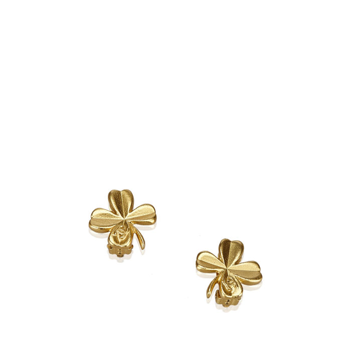 Chanel - Clover Clip On Earrings