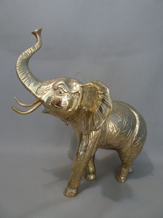 A large brass Elephant