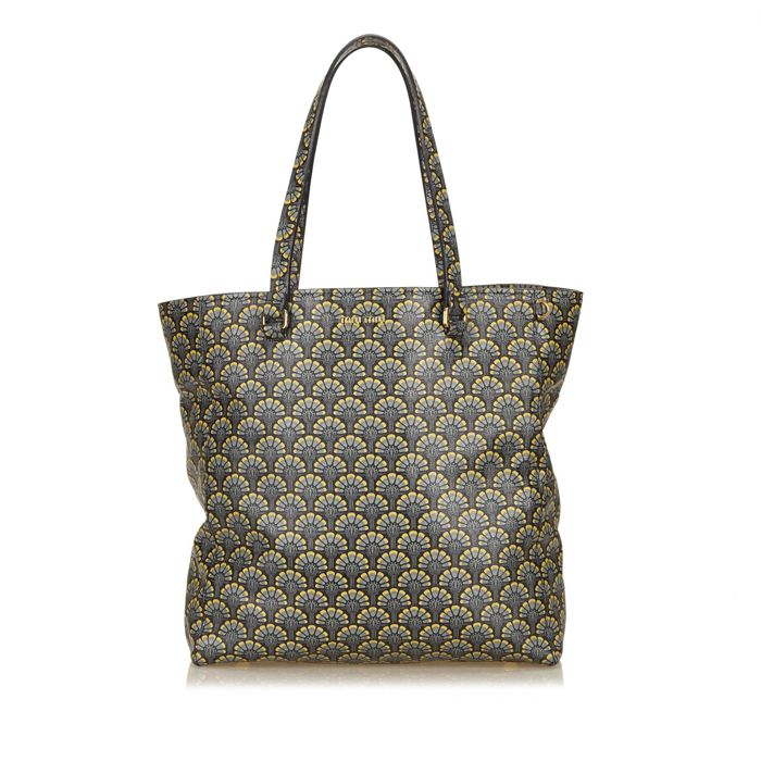 Miu Miu - Printed Leather Madras Tote