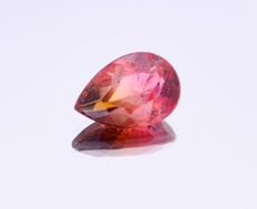 Two-tone pink and green tourmaline - 2.92 ct - No reserve price