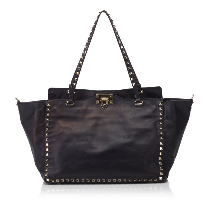 Valentino - Leather Rockstud Tote