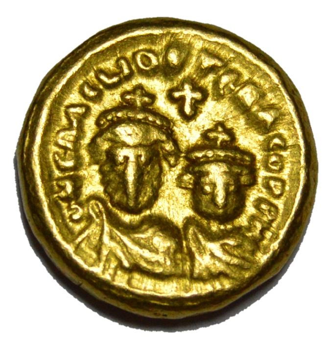 Byzantine Empire - Heraclius (AD 610-641) and Heraclius Constantine (AD 613-641). AV solidus Carthage, dated Indictional Year 8