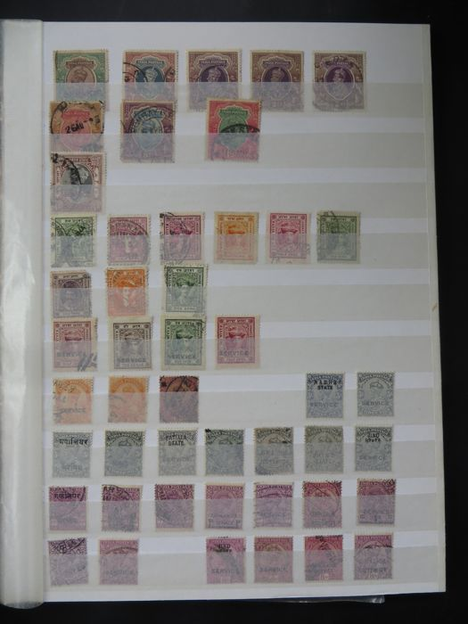 India - Classic collection on stock cards