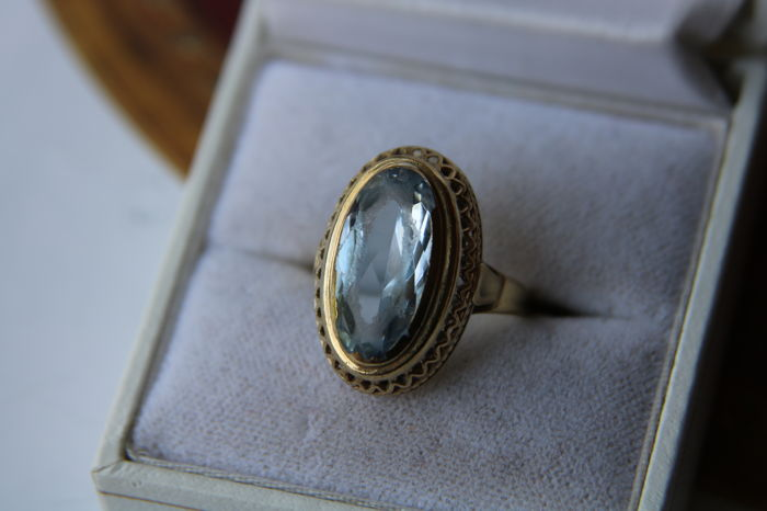 Antique handcrafted gold ring with a large ring head set with a 4.6ct Spinel **No Reserve**