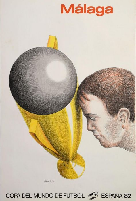 Roland Topor - World Cup in Spain, Malaga - 1982