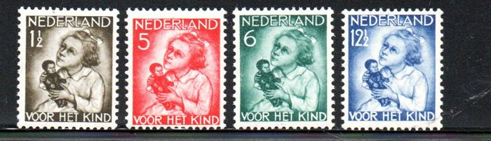 The Netherlands 1934 - Children's stamps - NVPH 240/243