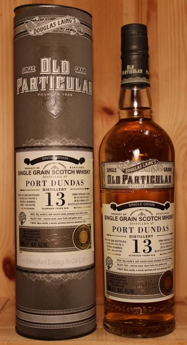 Port Dundas 13 years old - Single Grain Scotch Whisky incl. Box,  Old Particular / Douglas Laing & Co, closed distillery