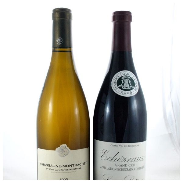 "2009 Echezeaux Grand Cru Louis Latour x 1 bottle - 2005 Chassagne Montrachet 1er Cru ""La Grande Montagne"" Domaine Lamy Pillot x 1 bottle /  2 bottles in total"