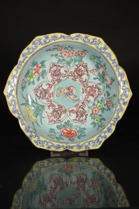 Canton enamel oyster plate - China - Second half 20th century
