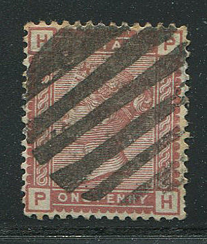Great Britain 1880/81 Queen Victoria - 1 penny Venetian red, Stanley Gibbons 166var.