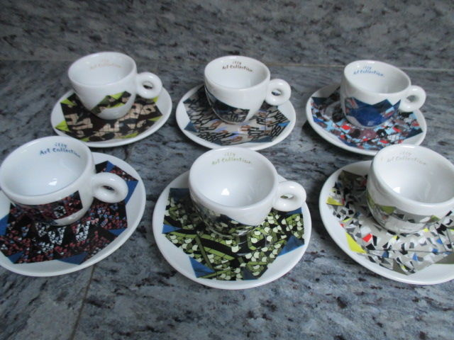 Michael Beutler - Illy Art Collection - set of 6 espresso cups and saucers Origami