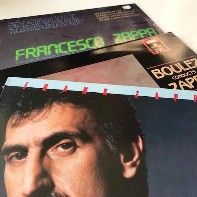 Frank Zappa - Lot of 3 original LPs: Francesco Zappa, Boulez Conducts Zappa, Jazz From Hell