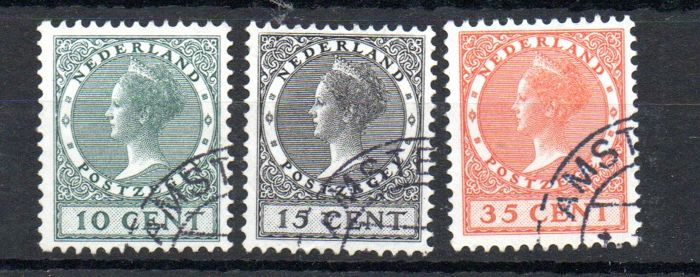 Netherlands 1924 - Exhibit stamps - NVPH 136/138