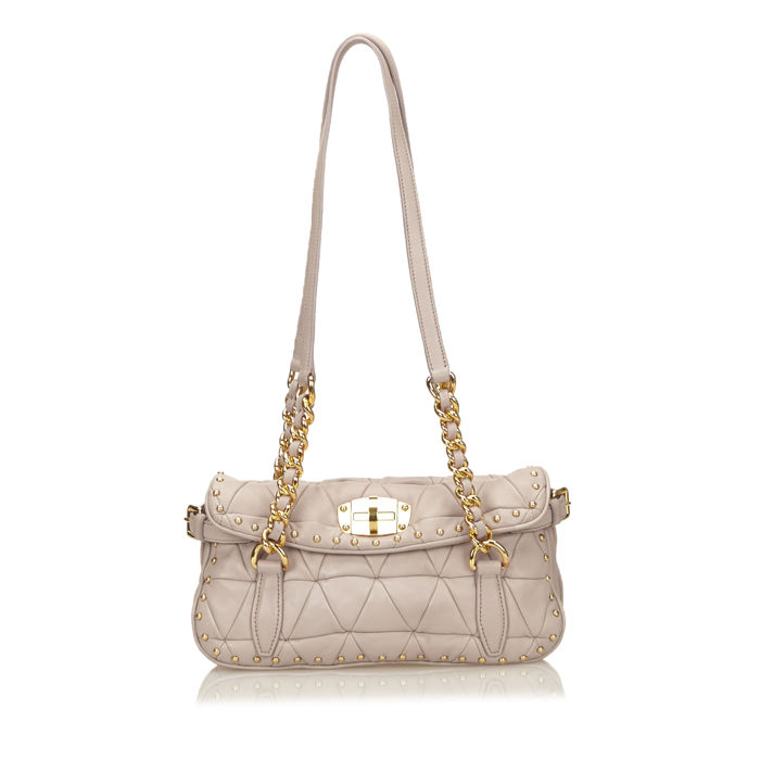 Miu Miu - Quilted Studded Shoulder Bag