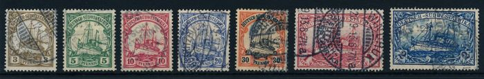 Duitse Koloniën - Duits Zuidwest-Afrika 1906 - Imperial yacht with watermark Michel ex. 24 - 30