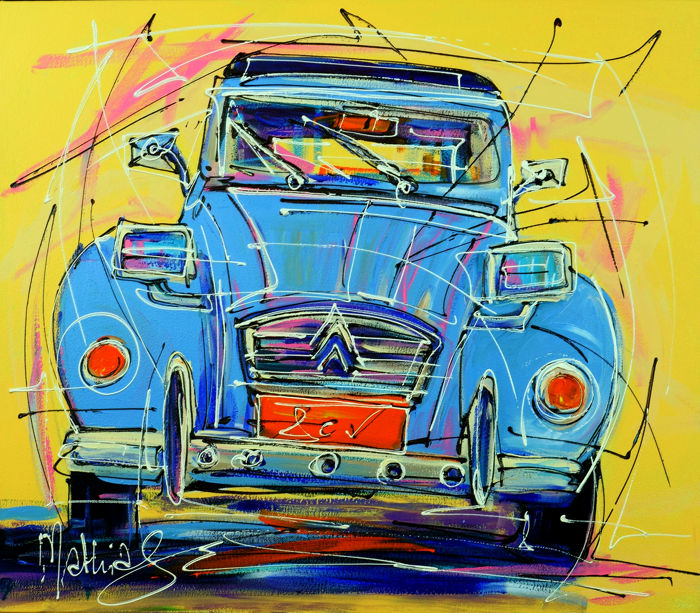 Mathias - Citroen blue 2cv