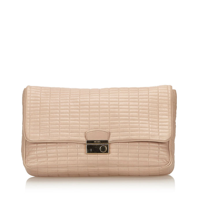 Prada - Quilted Leather Clutch Bag
