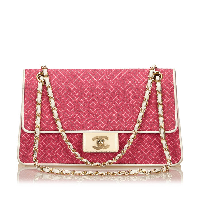 Chanel - Matelasse Cotton Shoulder Bag