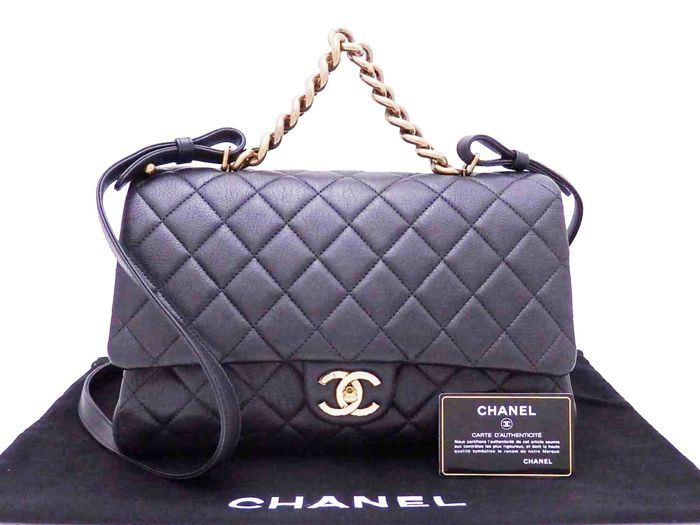 Chanel - Leather Business Affinity Shoulder bag