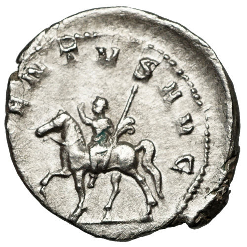Roman Empire – Traianus Decius (249-251) AR Antoninian, Rome, Caesar on Horseback