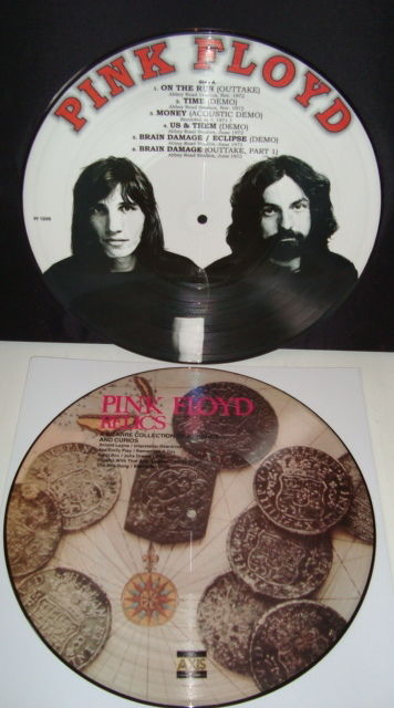 """Pink Floyd: Lot of 2 beautiful picture discs: """"More Rare Beauties"""" + """"Relics - A Bizarre Collection Of Antiques & Curios"""""""
