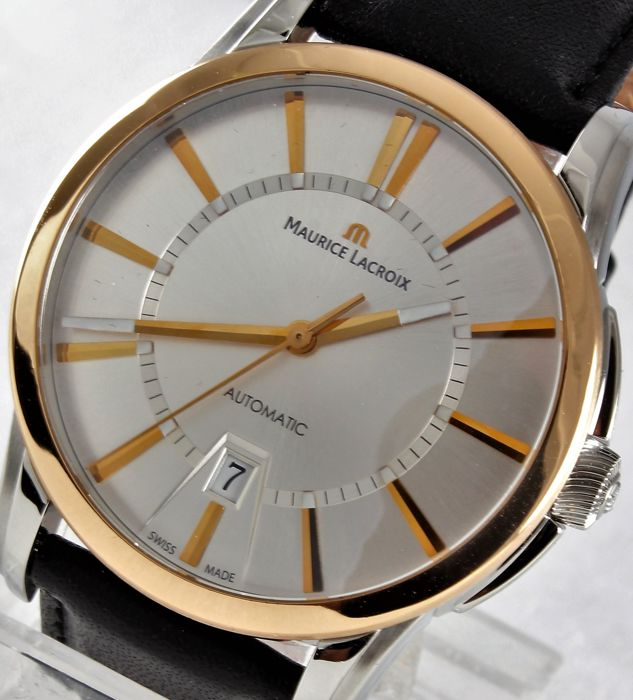 "Maurice Lacroix - ""Pontos"" Date Automatic - Rose Gold - Excellent - Swiss Chronometer - ref. PT 6148 - Warranty 1 year - Men - 2011-present"