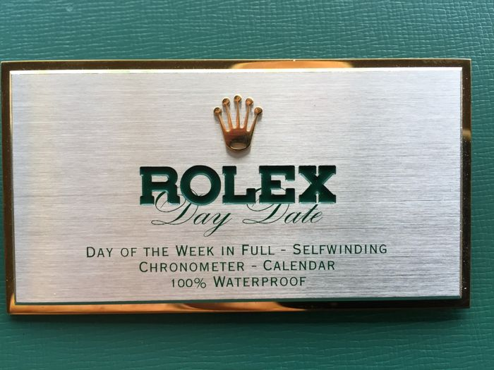 Rolex - ROLEX DEALER DISPLAY SIGN  - Unisex - 1990-1999
