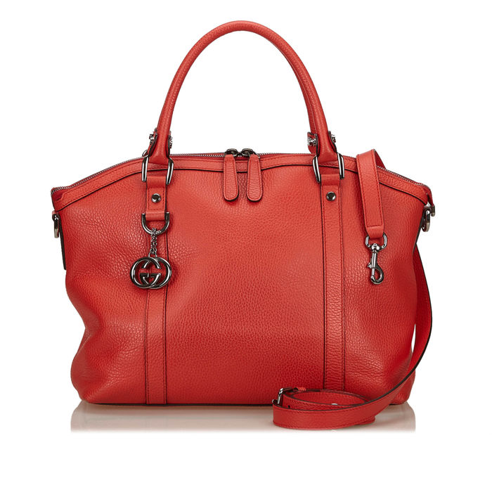 Gucci - Leather Dome 2 Way Bag