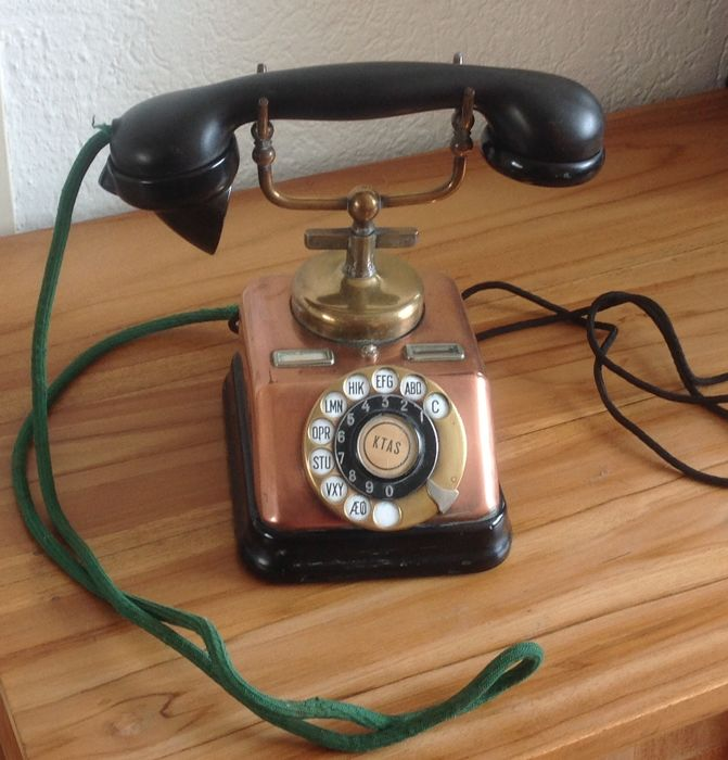 One copper telephone - K.T.A.S - Denmark, approx. 1930