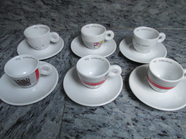 Maria Joao Calisto - Illy Art Collection - set of 6 espresso cups and saucer No water no coffee