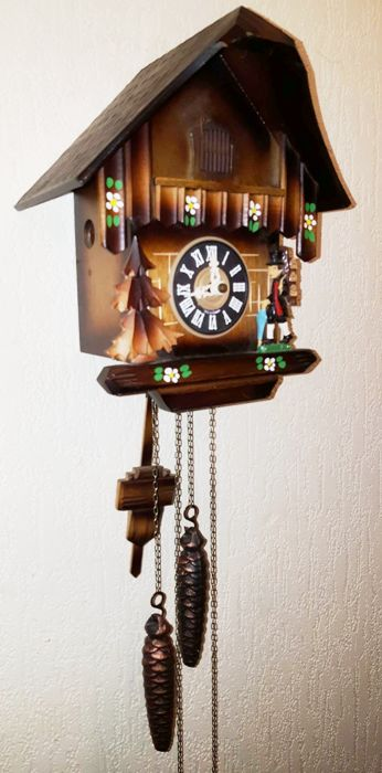 Schwarzwalder cuckoo clock / chalet clock 2nd half of the 20th century