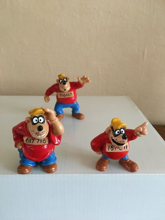 Disney  - 3 Bully figurines - The Beagle Boys (Les Frères Rapetou) - (1980)