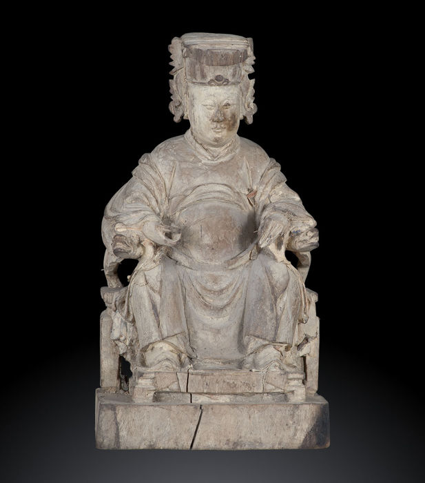 Antique sculpture of high dignitary - China, 18th Century (Qing Era)