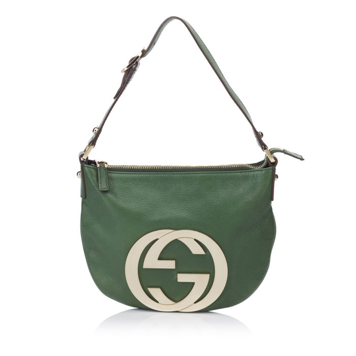 Gucci - Double G Leather Shoulder Bag