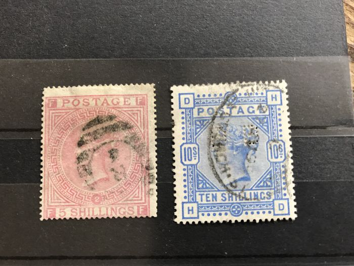 Great Britain - Stanley Gibbons 127 plate 2 with expert mark and Stanley Gibbons 183