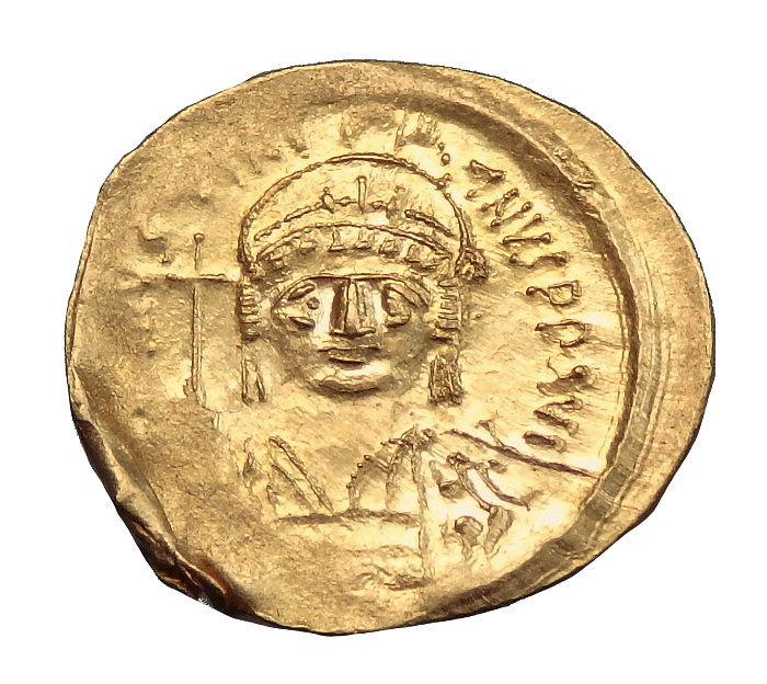 Byzantine Empire - Justinian I (527-565). AV Solidus. Constantinople Mint. Scarce mint mark - 21mm. C. 545-565 AD