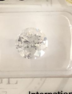 3.01ct Round brilliant - cut diamond natural D SI3
