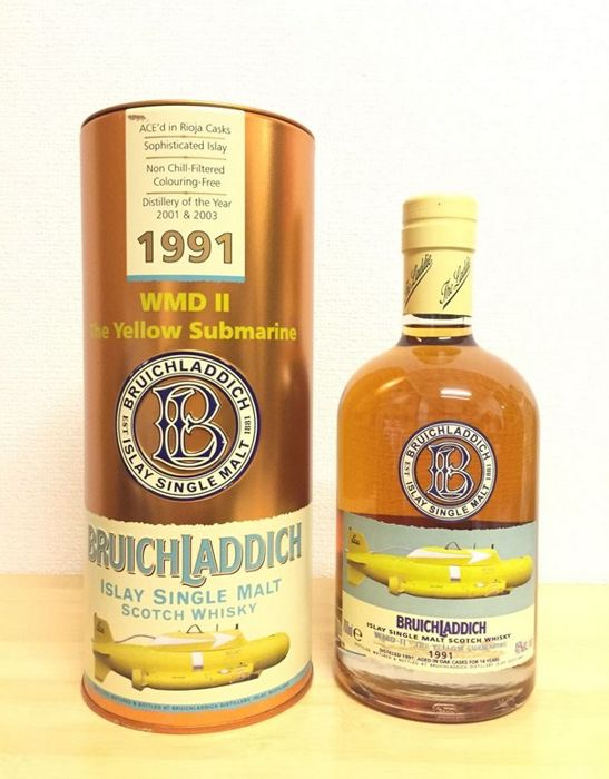 Bruichladdich Yellow Submarine WMD II  14 years old Distilled 1991 Limited Edition