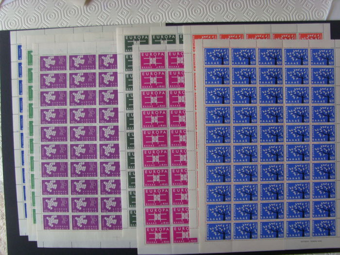 Greece and Cyprus 1962/1963 - Complete sheets of Europa Stamps