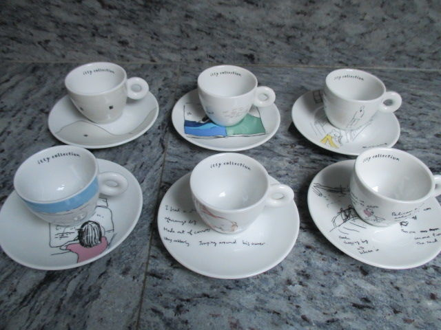 Shizuka Yokomizo - Illy Art Collection - set of 6 espresso cups and saucers Dream