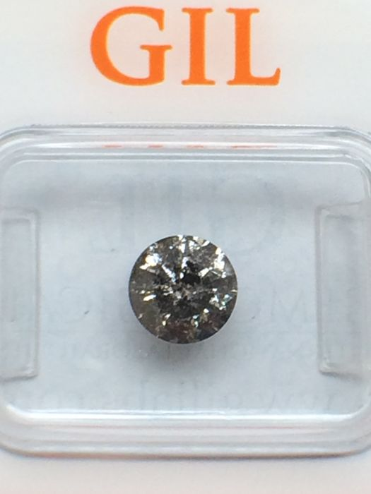 1.20 ct Brilliant cut Diamond Natural untreated Fancy Gray  **Low Reserve Price**