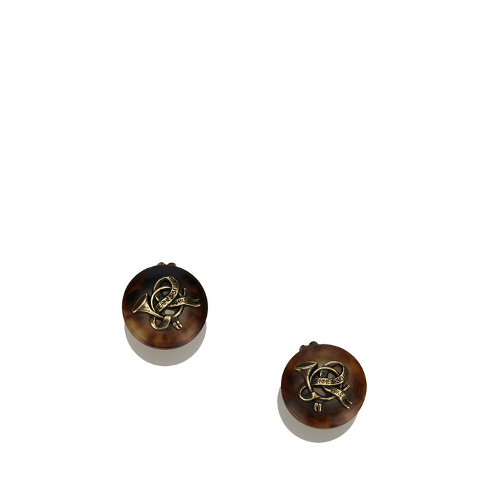 Hermes - Round Clip On Earrings