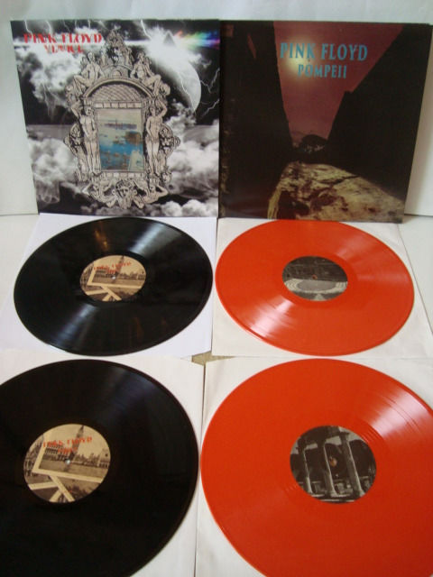 "Pink Floyd: Lot of 2 Limited Edition LP-sets: ""Venice"" + ""Pompeii"" (Orange Color Vinyl)"