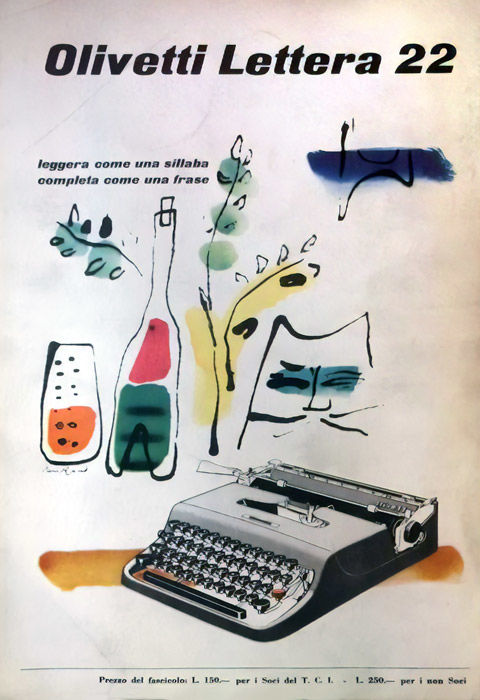 Anonymous - 7 Olivetti advertisements - 1940s/50s