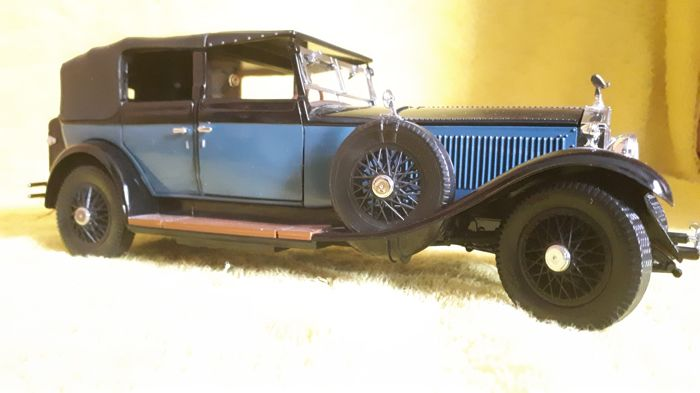 Franklin MInt - 1929 Rolls Royce Phantom I blue-black