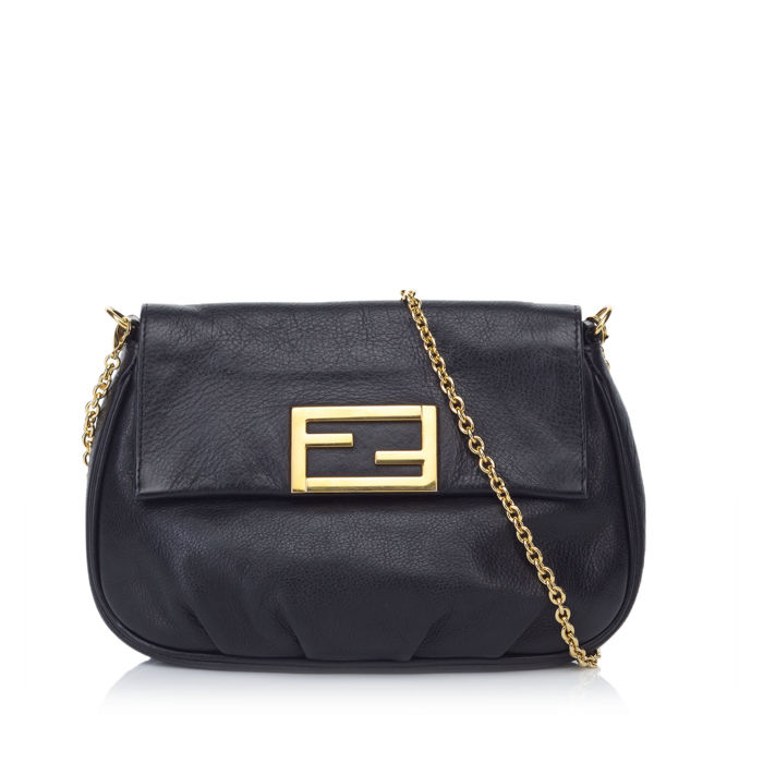 Fendi - Leather Chain Shoulder Bag
