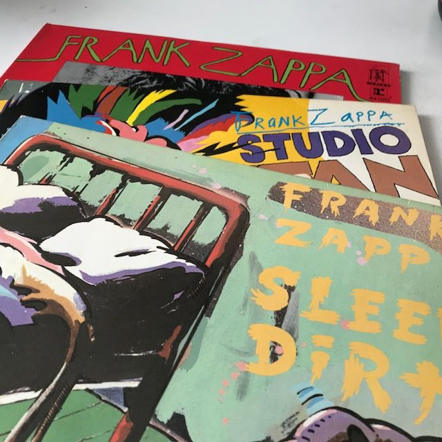 Frank Zappa - lot of 3 1970s LPs on Reprise/Discreet: Chunga's Revenge, Studio Tan, Sleep Dirt