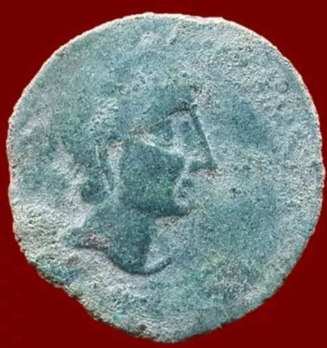 Ancient Hispania - Castulo (Caslona-Jaen) bronze Semis struck in the 2nd Century B C 34 mm / 24.7 g