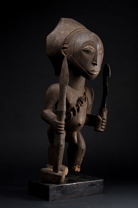 Large Singiti ancestor figurine - Hemba - Democratic Republic of Congo
