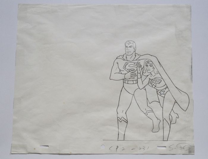 Original Animation Production Drawing - Superman -